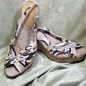 Fioni Wedge Snake Shoes